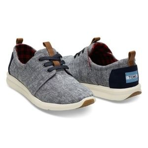 Toms Womens Del Rey Blue Chambray Sneakers 6.5
